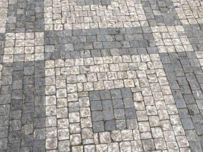 Брусчатака, тротуарная плитка, Прага