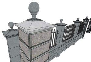 Ограда-каменная